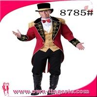 Handsome generous red long sleeve waistcoat Black eight pants A gentleman style outfit  sexy men costume m 4872