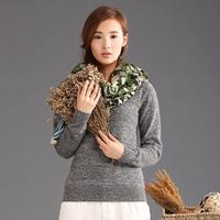women sweater winter mink cashmere sweater 2014 women fashion autumn fluffy long sleeve fur sweater pullover Free Shipping