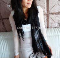Free shipping European style womens autumn hollow tassel scarf fashion  long scarves bonita bufanda para mujeres chicas