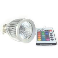 1pcs E27 10W RGB LED Lamp Memory Function Spot Light Bulb +16 Colors Remote Control  85-265V