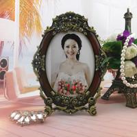 7 inch vintage photo frame Photography Studio home decor metal alloy crafts Birthday gift wedding gift