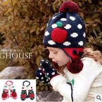 1pairs/lot Children Character Autumn Winter Child's Gloves Baby Girl Boy Glove Keep Warm Kid's Mittens Wholesale #0910