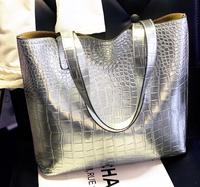 Promation! Free shipping 2014 women commuter belt buckle big bag wild colorful shoulder bag fashion shopping handbag  KKX152