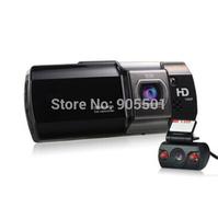 Dual camera CAR DVR AT580 FULL HD 1080P HDMI Dual Lens H.264 2.7'' LCD 148 Degree View Angle Video Recorder Free shipping