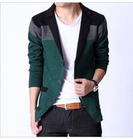 Free shipping new fashion autumn male casual cardigan outerwear terno masculino plus size 4xl 5xl 6xl sweater suit men blazer