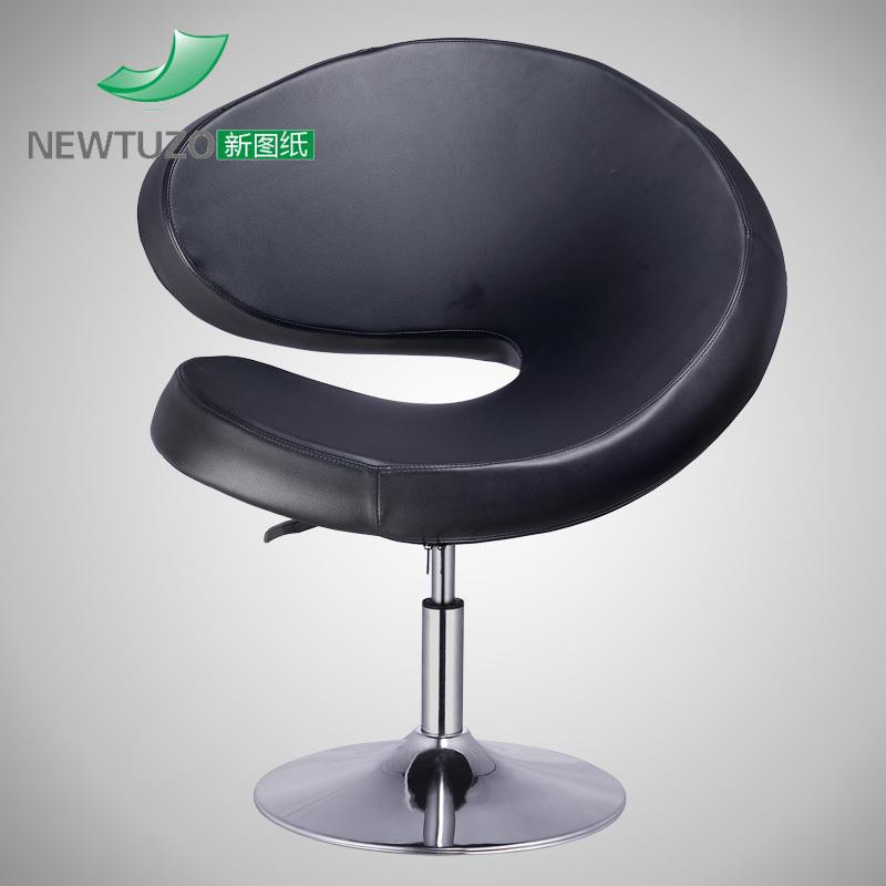 New drawings casual creative U-shaped single sofa chair minimalist modern U-shaped leather sofa lifter rotation(China (Mainland))