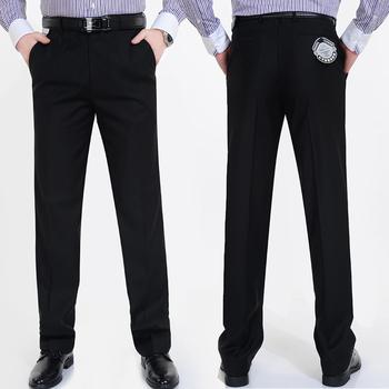 Человек брюки осень и зима мужские платье брюки бизнес свободного покроя прямые костюм ...
