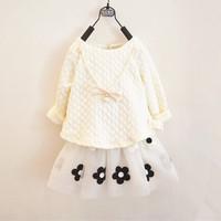 Autumn baby girls dress,baby clothing,flowers,roupa infantil,vestidos infantis,long sleeve,vestidos de menina,girl dress