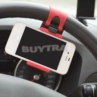 Car Windshield Stand Mount Holder Bracket for ipod Iphone Car Steering Wheel Mount Holder Rubber Band Mobile phone GPS MP4