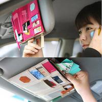 Multi-function visor receive package car hanging bags card bag Storage Organizer   free shipping #ZH091