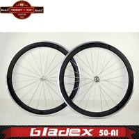 BladeX ROAD CARBON WHEELSET 250C-AL- 50mm Clincher;Bicycle Wheel;Affordable, Durable Carbon Fiber Road Bike Wheels