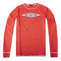 Sports amber um flock printing print vintage Men sports o-neck long-sleeve T-shirt