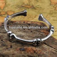 Free Shipping! 316 Stainless Steel Skeleton Bones Bangle MEB458
