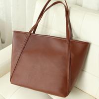 2014 fashion brief shoulder bag faux leather women's handbag shopping bag handle big bag B196