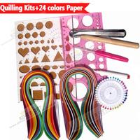 Quilling Kits Coleção Com 24 cores misturadas Paper Quilling , Junta de Trabalho, Ferramentas de fenda , Pinos Frete Grátis