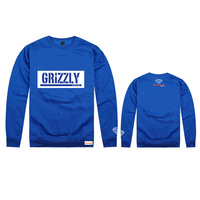 Brand Diamond supply co Mens / Womens Fashion Starry diamond Print Sport Hooded Chunky Hoodies Sweatshirt for men GRIZZLY GRIP