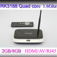 New Bluetooth Version Android 4.4 Quad Core TV Box 2GB + 8GB RK3188 28nm Cortex A9 Mini PC TV Quard Core pc/tv miracast mk cs968
