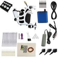 Free Shipping  Tattoo power kit Tattoo machine Supply with foot pedal talon clip cord