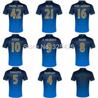 A+++Top Men Man City Thai Soccer Jersey 2014 2015 Home Away Blue Play Version Thailand 14 15 Aguero Toure YAYA Custom Name