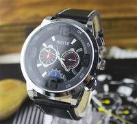 New Fashion Men Leather Watch Wristwatches Watches Men Luxury Brand Clock Male Quartz Watch Men's Watches