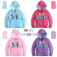 Children's Frozen Printing hoodies/Kids frozen Elsa costume/Good quality autumn children clothes