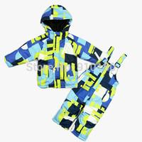 Children Clothing Set Ski Suit Boy Girl wind proof Snowboard Jacket +Pants Child Wadded Kids Outdoor Sets