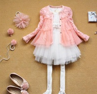 New fashion 5pc/lot  Children Lace cardigans / outerwear Baby Girls Flower cardigan/ Jackets,  A-bg304
