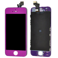 New brand Purple Lens Touch Screen Digitizer Display+Home Button Repairs For Iphone 5G free shipping