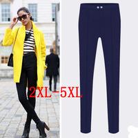 Europe new 2015 fat women pencil pants button high waisted plus size 5XL pants women's  trousers XXL/XXXL/XXXXL/XXXXXL TY8085LK