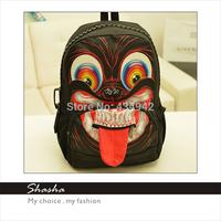 2014 Fashion new 3D backpack women famous brands shoulder bag men's backpacks girls school bags boys bolsas HALLOWEEN cool