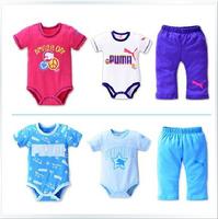2014 free shipping baby boys Clothing set 2Pcs bodysuits+1pants newborn infantis kids clothes conjuntode roupa yes O-down collar