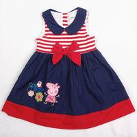 peppa pig girls dress Nova kids vestidos baby toddler girls princess dress girl party dress summer 2014 girl tutu dress clothing