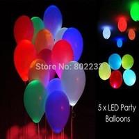 1000 pcs/Lot,Led Light Flashing Balloons, Festival Balloons, Wedding Decoration,5 Colour free shipping,dropshipping
