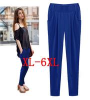 Europe new 2015 fat women female trousers Stretch Skinny Pants plus size 6XL Haren pants XL/XXL/XXXL/XXXXL/XXXXXL/XXXXXXL TY9012