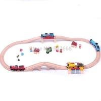 5sets Thomas wooden train track tracks orbit trains compatible wooden set track 1 set=15pcs