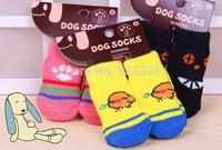 600pcs/lot(150set/lot) NEW Fashion Design pet Dog Socks P2589