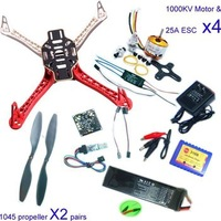 F02192-B RC 4 Axis Multi QuadCopter UFO ARF/Kit No TX&RX:KK V2.3 Circuit board+1000KV Motor+30A ESC+Lipo+F450 Flamewheel Freeshi