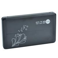 """NEW Hi-Speed 2.5"""" USB 3.0 SATA HDD Hard Disk Drive External Enclosure Case Cover (Max. 3TB)(this is only case)"""