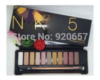 1Piece New Arrive 2015 Nake Makeup Eyeshadow Palette 12 color Matte Eye Shadow N K 5 Make up Set Cosmetics Free shipping