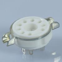4PCS Ceramic Tube Socket 9Pin EL509 EL504 EL502 6LQ6 7868 B9D Base