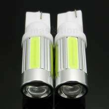 2pcs/lot T10 5W Car 5 SMD LED COB 194 168 W5W Wedge License plate Roof Light Bulb Lamp(China (Mainland))