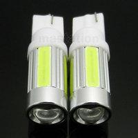 2pcs/lot T10 5W Car 5 SMD LED COB 194 168 W5W Wedge License plate Roof Light Bulb Lamp