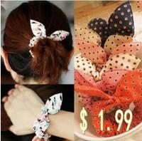 Wholesale Free shipping 2014 Fashion Hairbands Headwear Hair Accessories Dot Elastic Hair Bands Headbands For Women Hair Bows