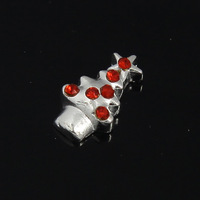 2014 New Arrival Red Crystal Christmas Tree Floating Charms for Floating Locket 20pcs/lot F372