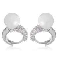 new CZ crystal hoop earring for women 18k white gold plated earrings for women statement earrings channel earrings A816