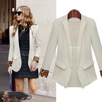 D1 Fashion 2014 Women Autumn plus size S-XL stylish comfortable chiffon Blends Cloth jacket coat Slim small suit outwear jacket