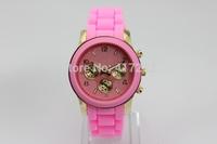 Free Shipping!10pcs/lot Fashion Luxury No Logo Men Quartz Sports Wristwatches Women Dress Watches Mix Colors Avaliable