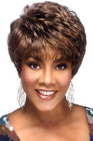 Exquisite Women's Hairstyle Brazilian Hair wig Short Straight Brown Elegant Hair Wigs Free Shipping
