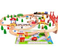 4sets Thomas The Train Compatible Wooden Track 100pcs/set