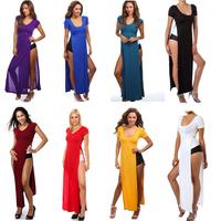 2014 New Plus Size Women Clothing Bandage Dress Women Summer Long Celebrity Dress Vestidos Sexy Bodycon Party Dresses 8 Colors